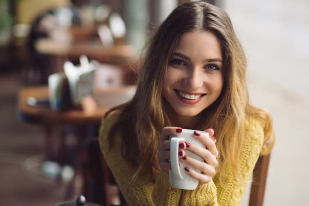 charming girl drinking cappuccino 158595 1577 - How to Use Pinterest for Business with Pinterest Images
