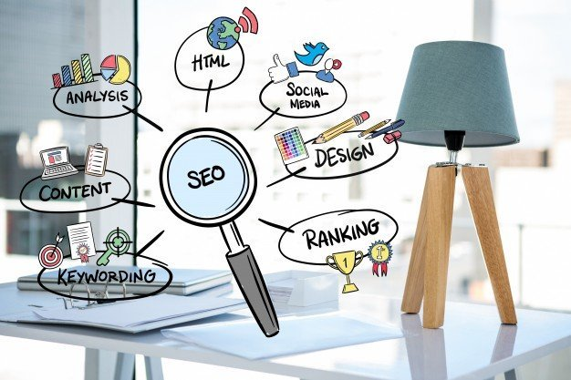 magnifying glass with seo concepts 1134 81 1 - How to Find the Keywords You Rank for on Pinterest