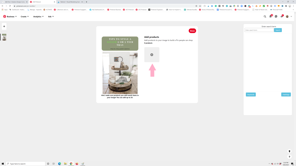 product tagging a pin 1024x576 - How to Tag Products on Pinterest with Clickable URLs