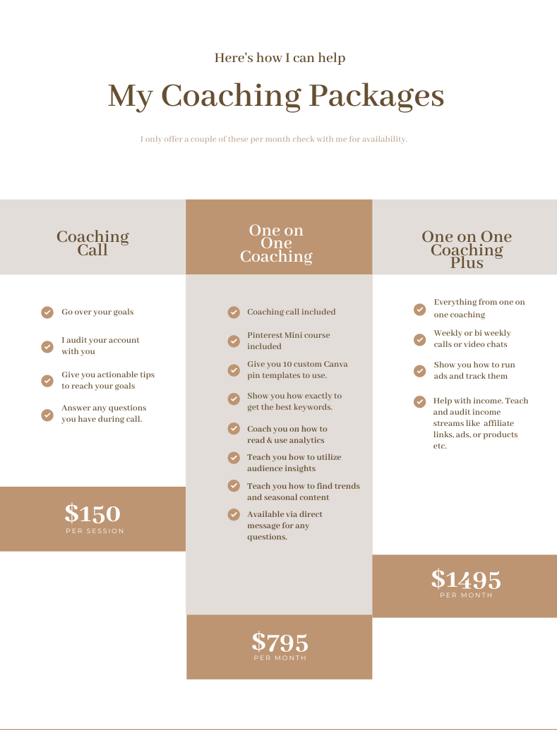 Client Welcome Packet 1 - Pinterest Coaching Services