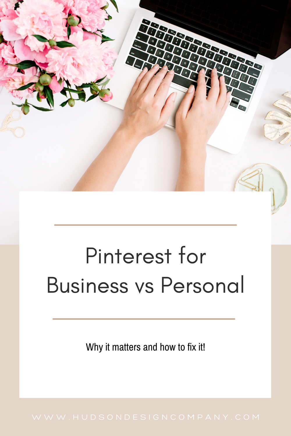Modern Pinterest Pin Graphic Template 1 - Pinterest Business Account vs Personal